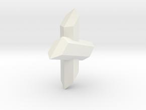 Gypsum 101 in White Natural Versatile Plastic