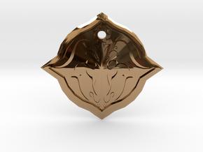 Bull Symbol1 in Polished Brass