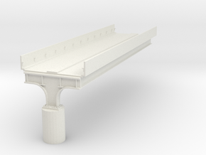 """HO scale Elevated Subway Philadelphia 12"""" SECTION  in White Natural Versatile Plastic"""