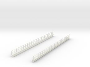 HO EL WEST PHILLY 12 SECTION MONO RAILING in White Natural Versatile Plastic