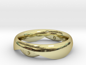 Swing Ring elliptical 17mm inner diameter in 18k Gold Plated Brass