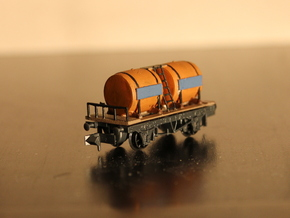 n-scale wine wagon simple in Smooth Fine Detail Plastic
