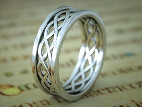 Celticring010 in Polished Silver