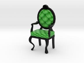 1:144 Micro Scale LimeBlack Louis XVI Oval Chair in Full Color Sandstone