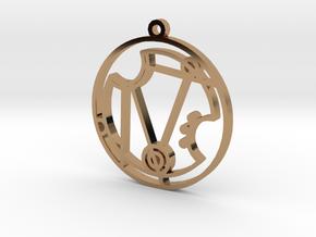 Nerissa - Necklace in Polished Brass
