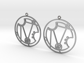 Nerissa - Earrings - Series 1 in Fine Detail Polished Silver
