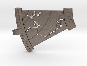Sagittarius Constellation Pendant in Polished Bronzed Silver Steel