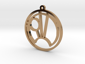 Sam - Necklace in Polished Brass