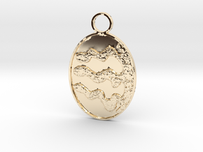 4,3 Wiggled Keychain in 14k Gold Plated Brass