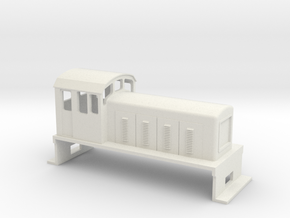 DS Locomotive, New Zealand, (S Scale, 1:64) in White Natural Versatile Plastic