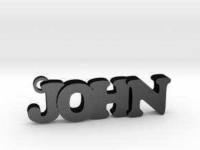 JOHN (Keychain - Pendant) in Matte Black Steel