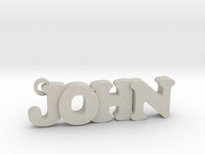 JOHN (Keychain - Pendant) in Natural Sandstone