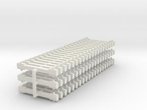 60 NEM-bars 6mm in White Natural Versatile Plastic