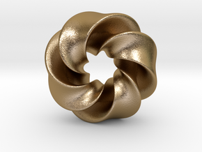 0169 8-Torus [2-2-2-1] (2.5cm) in Polished Gold Steel