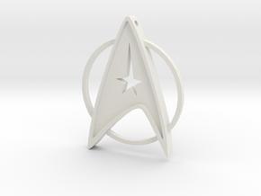 StarTrek Amulet in White Natural Versatile Plastic
