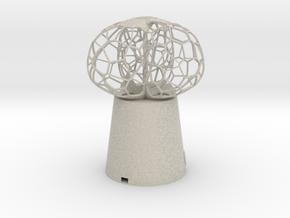 3 petal mini Lamp in Natural Sandstone