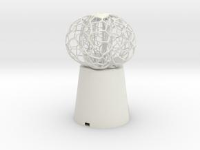5 petal mini Lamp in White Natural Versatile Plastic