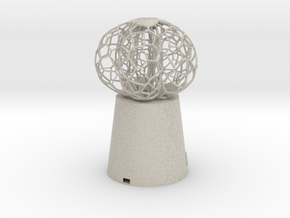5 petal mini Lamp in Natural Sandstone