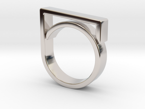 Adjustable ring for men. Model 1. in Rhodium Plated Brass