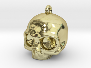 Skull Pendant in 18k Gold