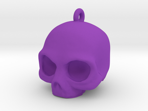 Skull Pendant in Purple Processed Versatile Plastic