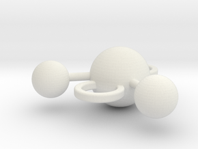 water molecule bead in White Natural Versatile Plastic