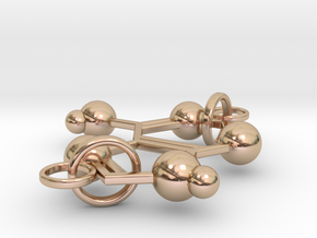 Adenine(double Ring) in 14k Rose Gold Plated Brass