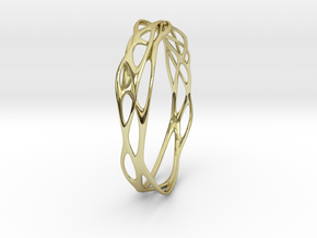 Incredible Minimalist Bracelet #coolest (S or M/L) in 18k Gold: Small