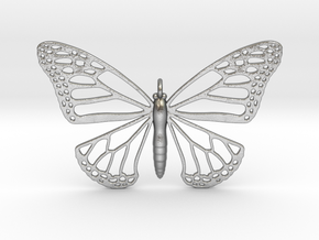 Strong Monarch Pendant in Natural Silver
