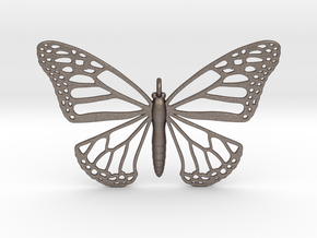 Strong Monarch Pendant in Polished Bronzed Silver Steel