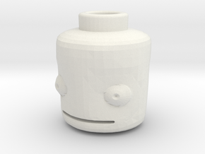 Lego Head KSP (full compatibility) in White Natural Versatile Plastic