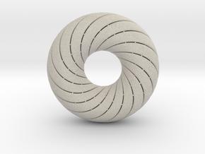0172 8-Torus [2-2-4-4] (n=8, 5.0cm)  in Sandstone