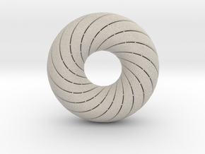0172 8-Torus [2-2-4-4] (n=8, 5.0cm)  in Natural Sandstone
