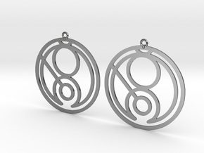Gina - Earrings - Series 1 in Fine Detail Polished Silver