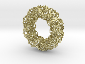 Bracelet The  geometric  size 2 3/4 (70mm) in 18k Gold Plated Brass