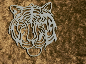 Big Tiger Amulet in White Strong & Flexible