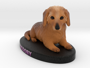 Custom Dog Figurine - Scooby in Full Color Sandstone