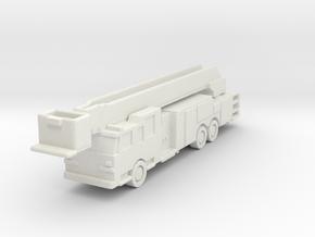 1:285 Pierce Arrow 100' Rearmount Platform Ladder in White Natural Versatile Plastic: 6mm