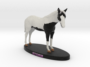 Custom Horse Figurine - Storm in Full Color Sandstone