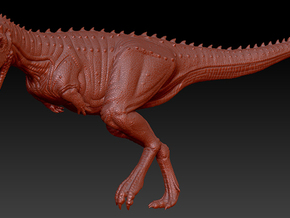 1/40 Carnotaurus - Running in White Strong & Flexible