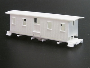 HOn30 30ft Baggage Car A in White Natural Versatile Plastic