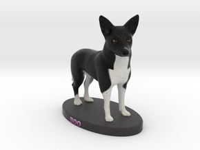 Custom Dog Figurine - Boo in Full Color Sandstone
