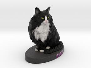 Custom Cat Figurine - Evey in Full Color Sandstone