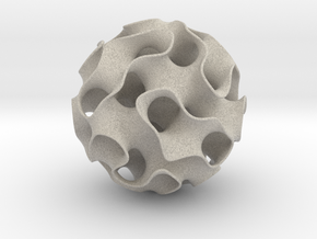 Gyroid Purple (Exhibit Size) in Natural Sandstone