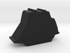 Game Piece, Brig Sailing Ship in Black Natural Versatile Plastic