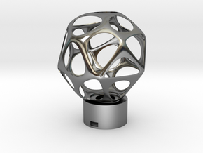 Lamp voronoi sphere1 in Fine Detail Polished Silver
