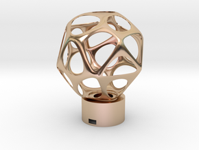 Lamp voronoi sphere1 in 14k Rose Gold Plated Brass