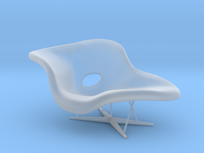 1:12 Eames La Chaise in Smooth Fine Detail Plastic
