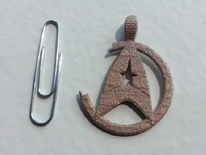 Khan Pendant - Star Trek in Polished Bronzed Silver Steel
