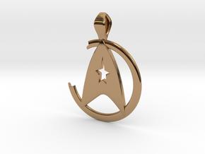 Khan Pendant - Star Trek in Polished Brass